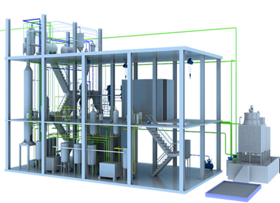 Cotton seed oil fractionation plant