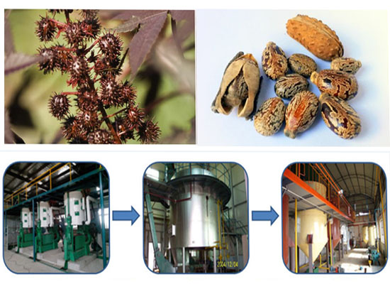 Complete line of castor oil production process