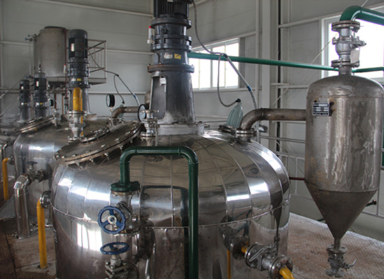 Degumming system of vegetable oil refining machine