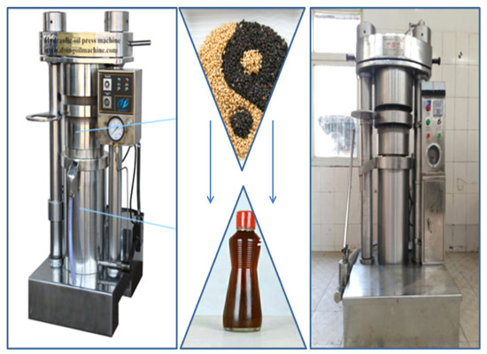 Automatic hydraulic oil press