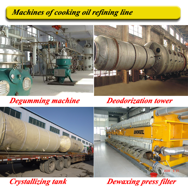 Machines of cooking oil refining line