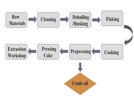 cottonseed oil pretreatment and pressing process