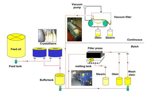 palm oil fractionation process flow chart