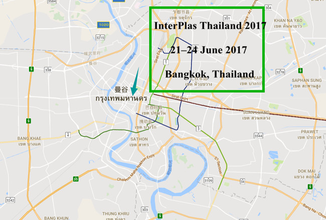 interPlas thailand 2017 map