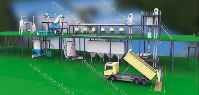 rice bran oil pretreatment machine