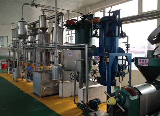 Oil production plant for different oil seeds