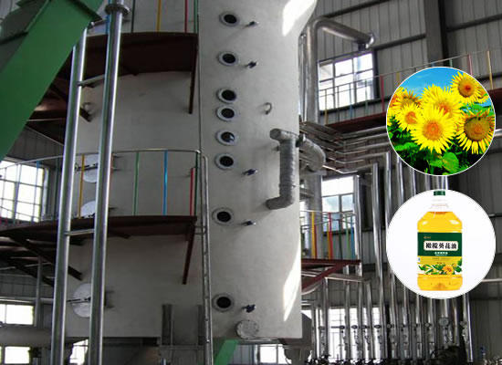 Sunflower oil extraction plant