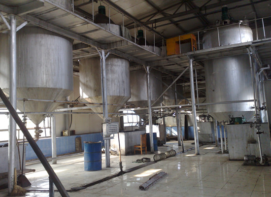 Groundnut oil refinery production line