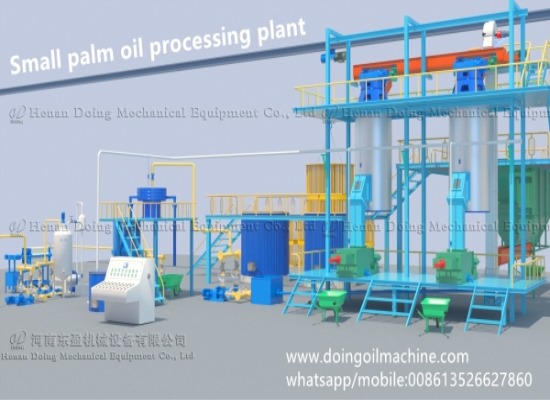 The introduction of small scale palm oil extraction and refining process