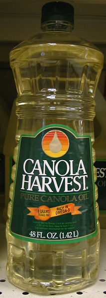 Bottle of canola cooking oil
