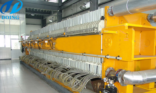 Heat discharging filter - filter mainly used in large scale process