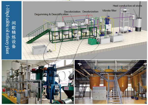 batch type edible oil refining machine
