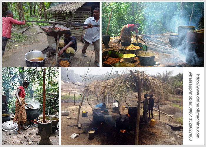 palm oil pressing